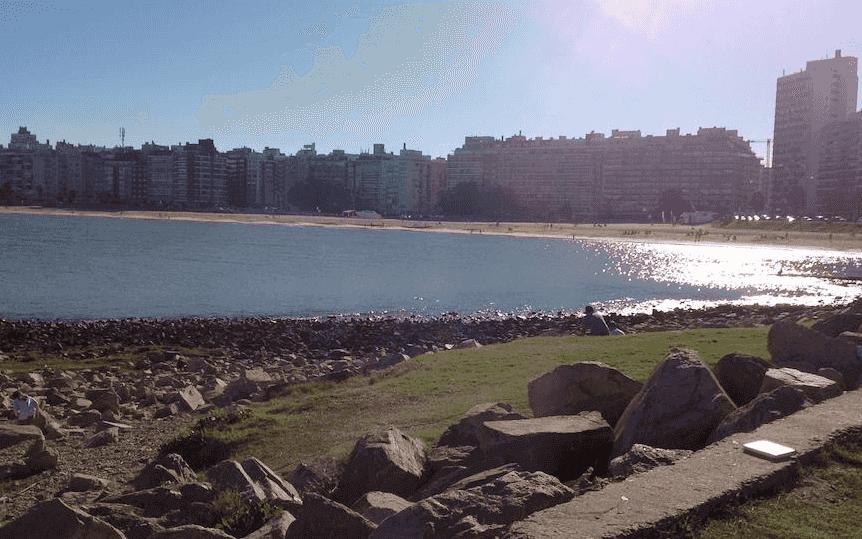 Montevidéu em março: praia