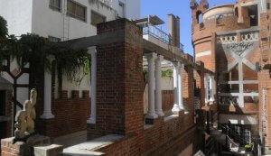 Castillo Pittamiglio em Montevidéu: área externa