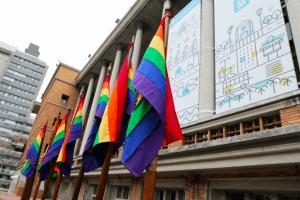 Montevidéu em setembro: Bandeiras do orgulho LGBT