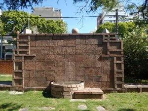Museu Nacional de Artes Visuais em Montevidéu: jardim