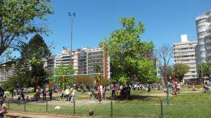 Parque Villa Biarritz em Montevidéu: playground