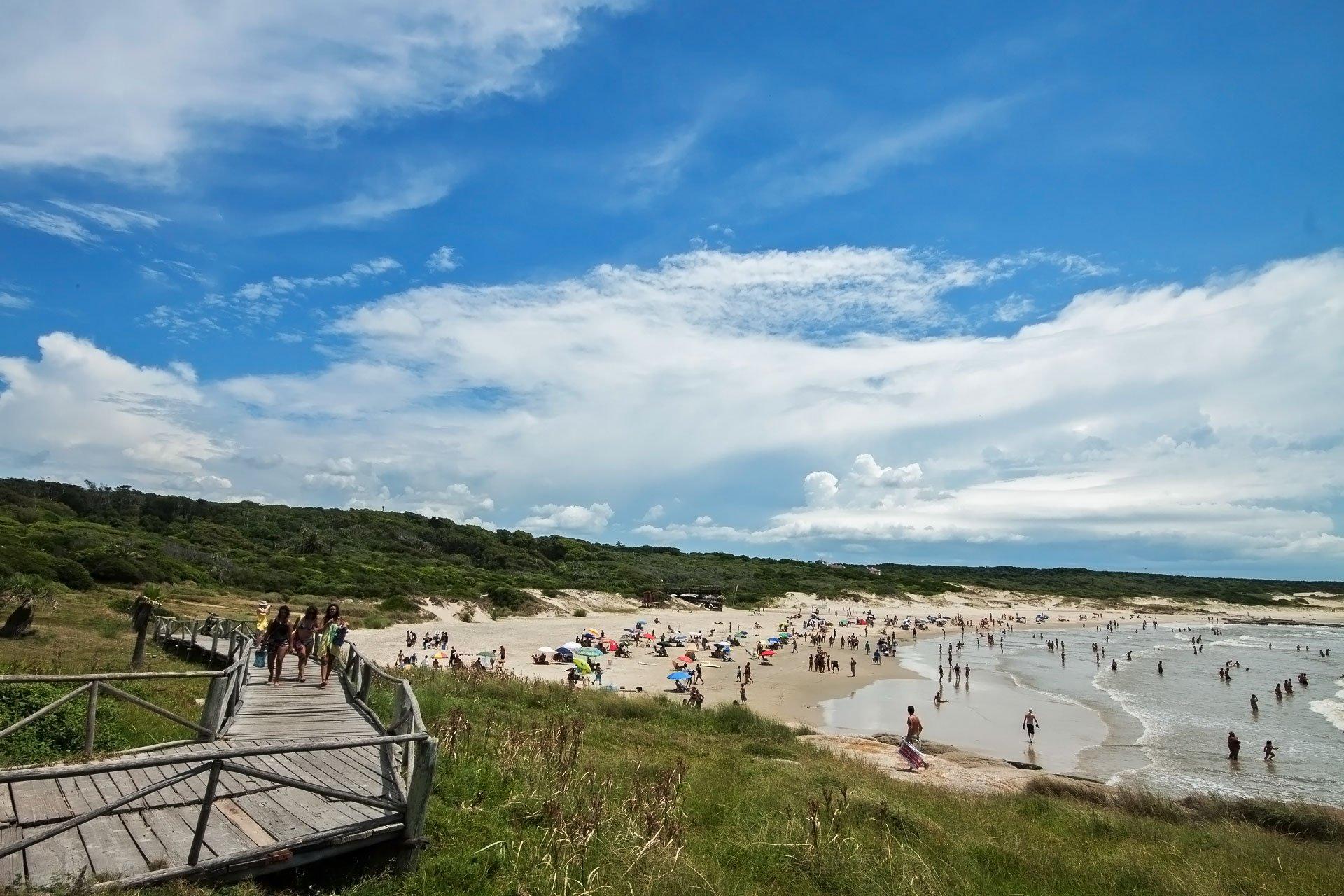 Parque Nacional de Santa Teresa no Uruguai: praia