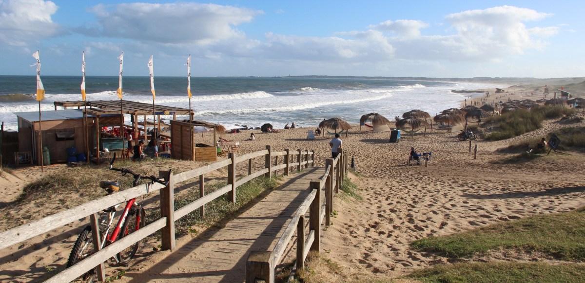 La Pedrera no Uruguai: praia