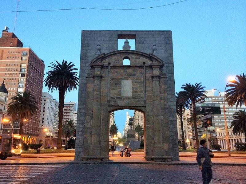Região Ciudad Vieja (Cidade Velha) em Montevidéu