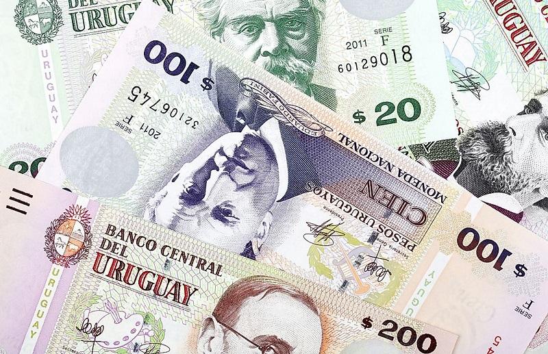 Pesos uruguaios em espécie