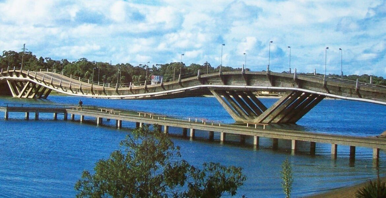 Roteiros de carro pelo Uruguai: Puente de La Barra - Ponte Ondulada