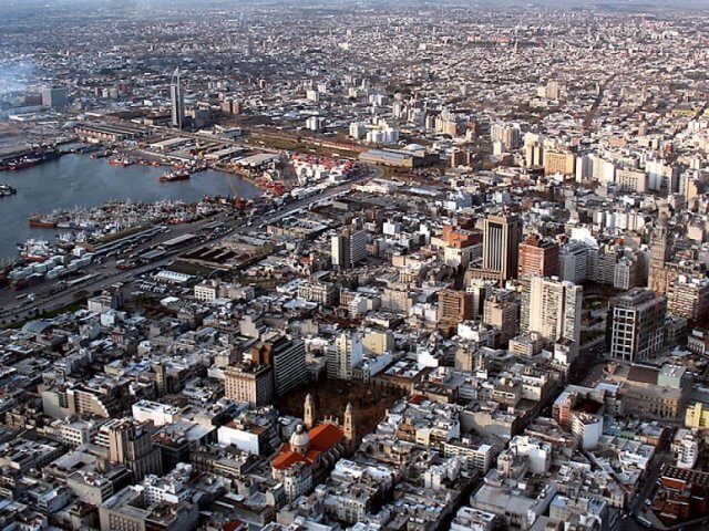 Mapa turístico de Montevidéu