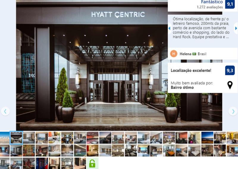 Fachada do Hotel Hyatt Centric Montevideo