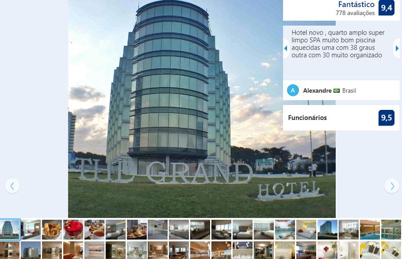 Fachada do The Grand Hotel em Punta del Este