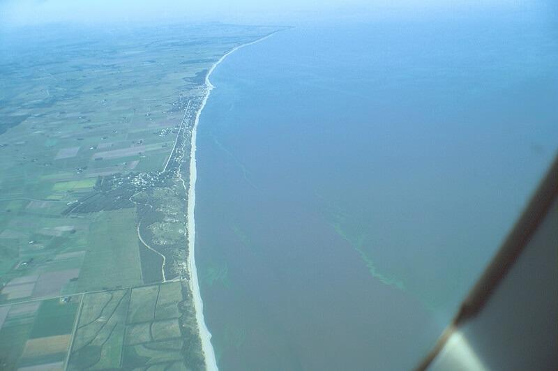 Vista do avião do Uruguai