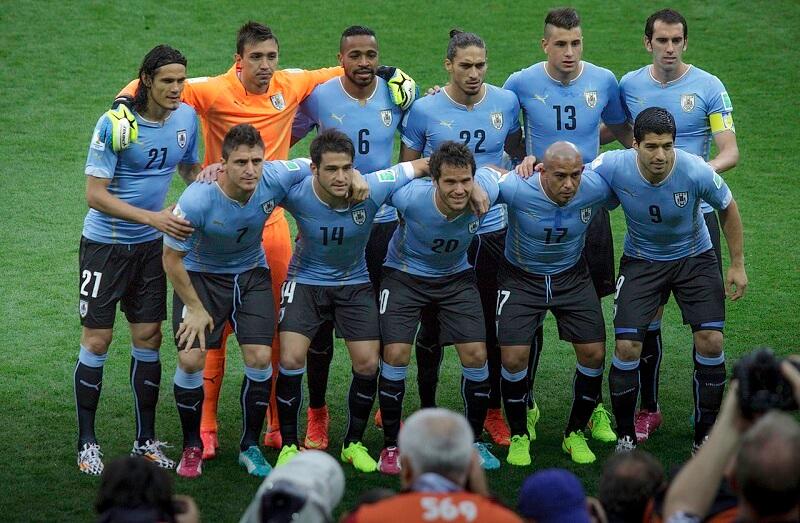 Jogadores de time de futebol do Uruguai