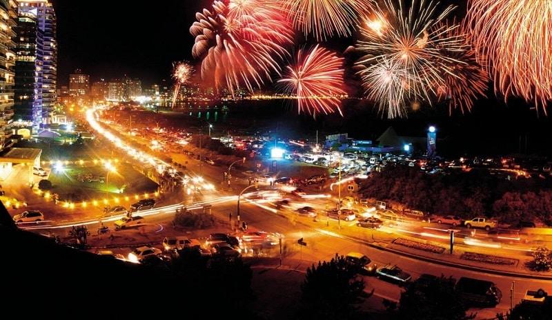 Noite de Ano Novo em Montevidéu