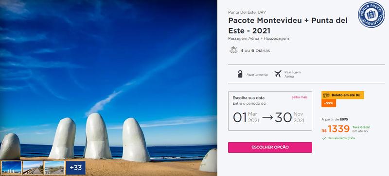 Pacote Montevidéu + Punta del Este: Hurb