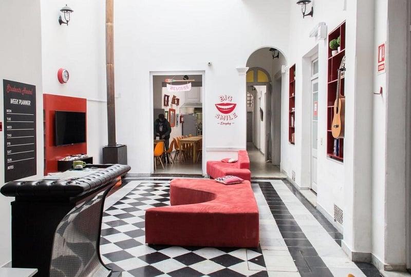 Student's Hostel em Montevidéu - Recepção