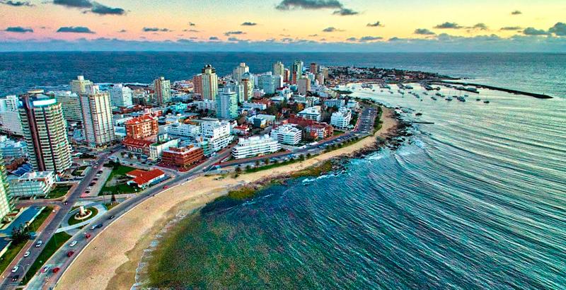 Vista panorâmica de Punta del Este